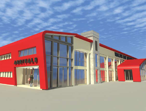 Rendering of the new terminal