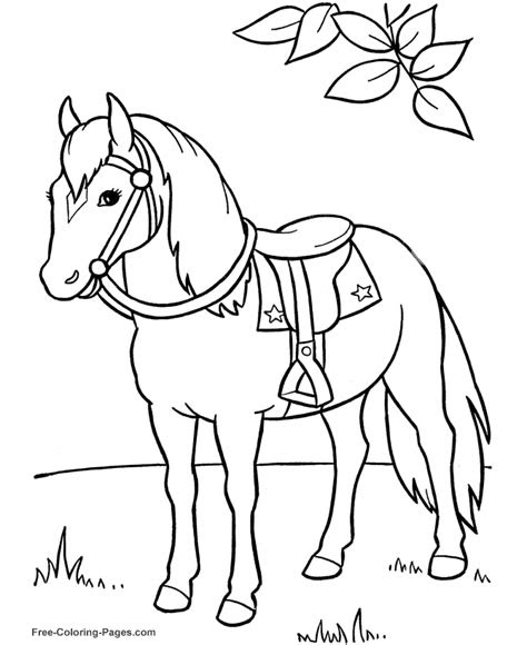 animal coloring pages horse coloring page