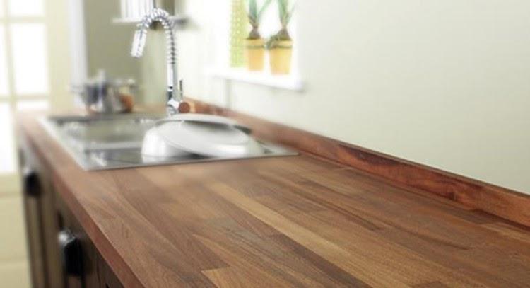 Top cucina ceramica piano di lavoro cucina legno - Piano lavoro cucina legno ...
