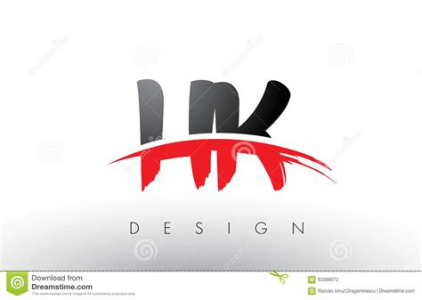 hk   brush logo letters  red  black swoosh brush