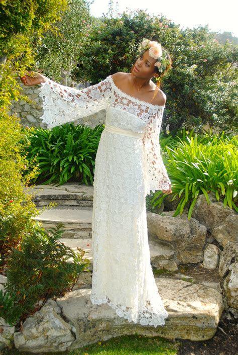 Off Shoulder Boho Maxi Lace Dress   Bohemian Chic