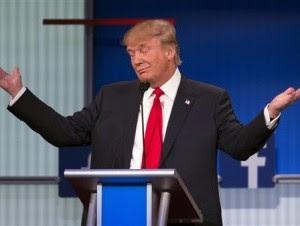 El precandidato presidencial republicano Donald Trump
