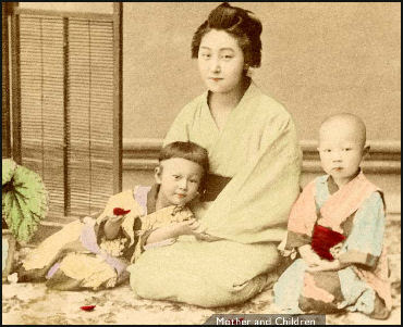 Japanese Mothers And Housewives Having Children Duties Education