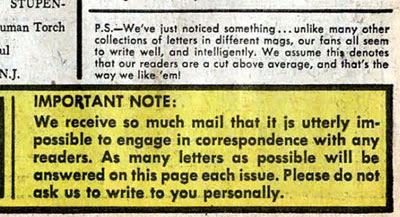 FF #3 letter column