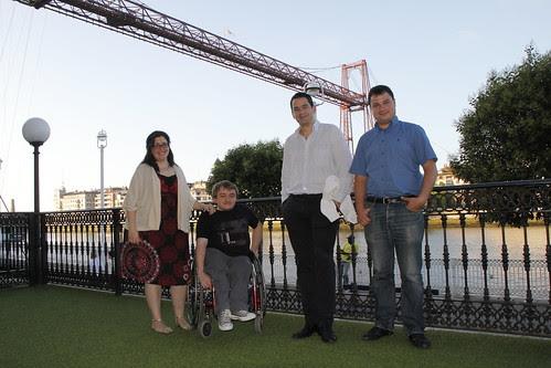 Irene Miren García de Etxeandia, Ion Baratas, Santiago González de la Torre y David Mérida Sanz.