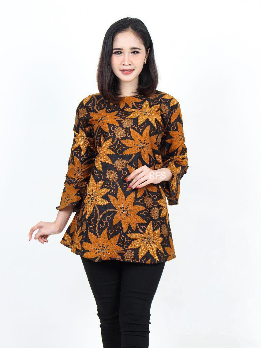 Model Baju Batik Atasan Wanita Kantor Elegan - Belanja ...