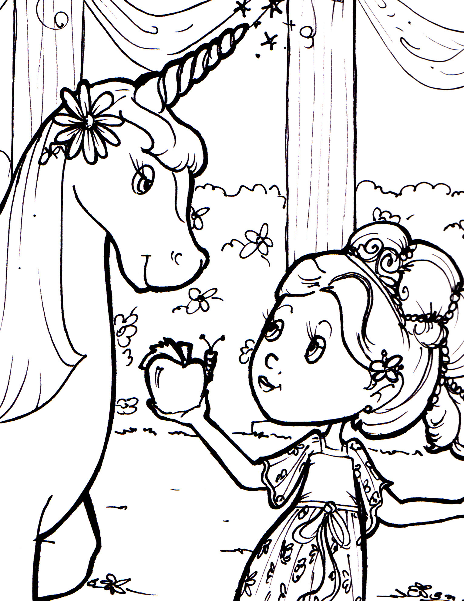 Free Downloadable Coloring Sheet - Princess and the ...