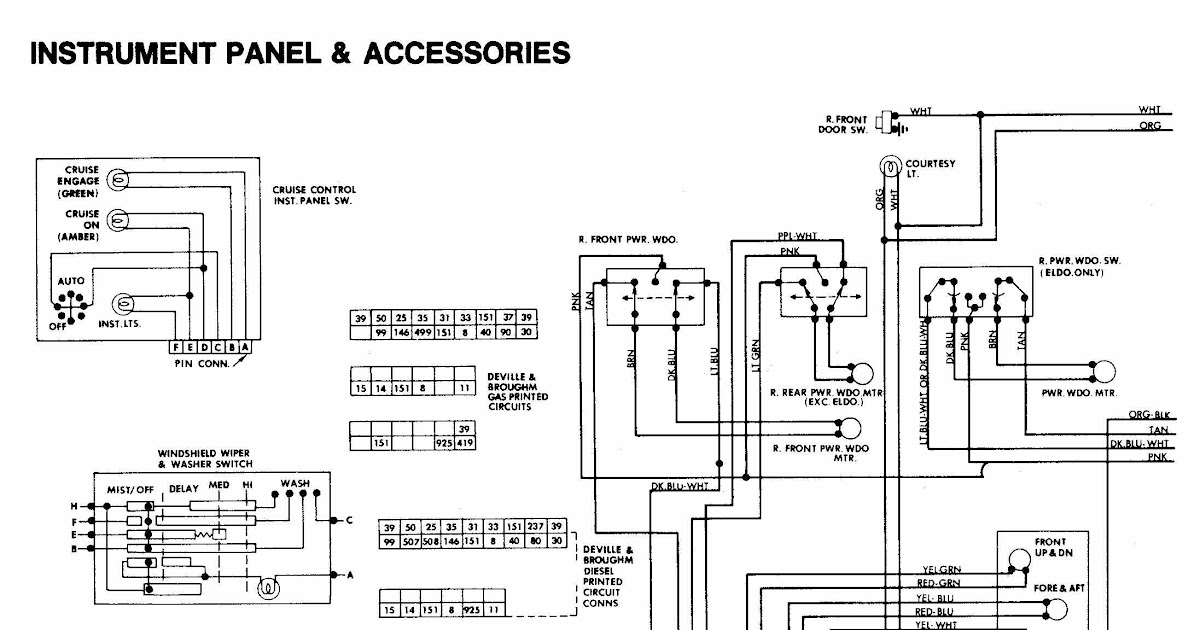 Cadillac Deville Concour Wiring Diagram And Electrical System