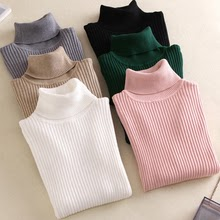 Women Knitted Turtleneck Sweater VEST Soft polo-neck