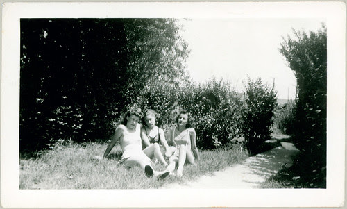 Three girls in the grass