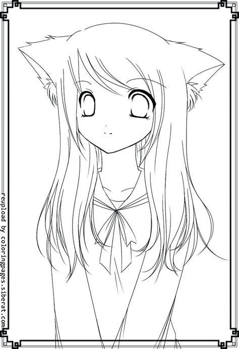 anime cat girl drawing  getdrawingscom