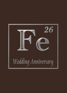 6th iron wedding anniversary congratulations, An