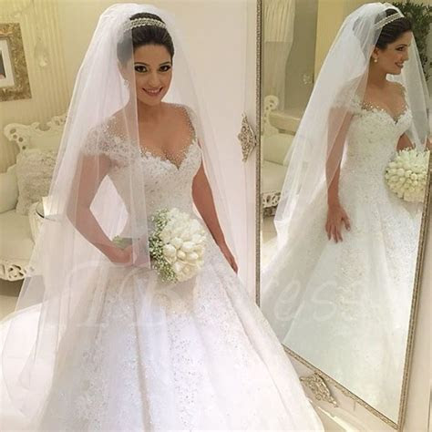 Beading Lace Ball Gown Princess Wedding Dress   Ball gowns