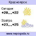 Прогноз погоды в городе Красноярск