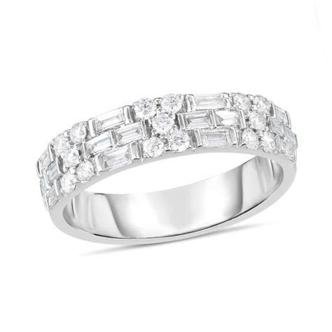 3/4 CT. T.W. Baguette and Round Diamond Alternating Multi