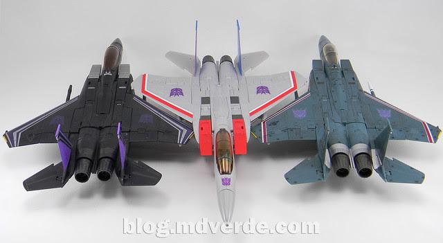 Transformers Starscream Masterpiece MP-11 - modo alterno vs MP-03 vs Skywarp