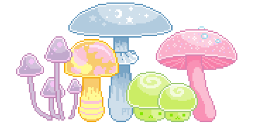 sugar mushrooms, most commonly found in fairy lairs  ゜。*+゜。