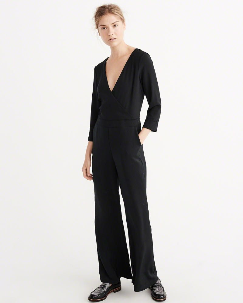 Wrap Jumpsuit in Black