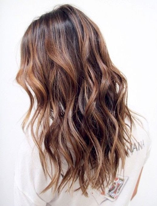 Le Fashion Blog Beauty Caramel Brown Wavy Shiny Hair Via @brendakamt