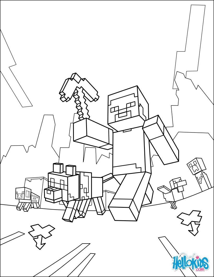 раскраска лего майнкрафт #5