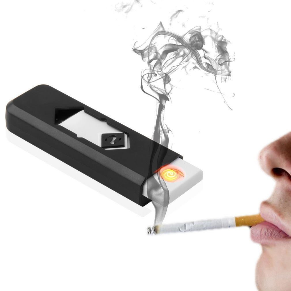 Deals on Electronic USB Cigar Cigarette Lighter Windproof Rechargeable Flameless Lighter