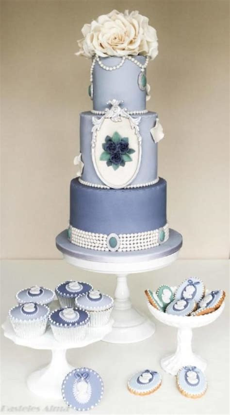 Shabby Wedding   Shabby Chic Blue Wedding Cake #2055588