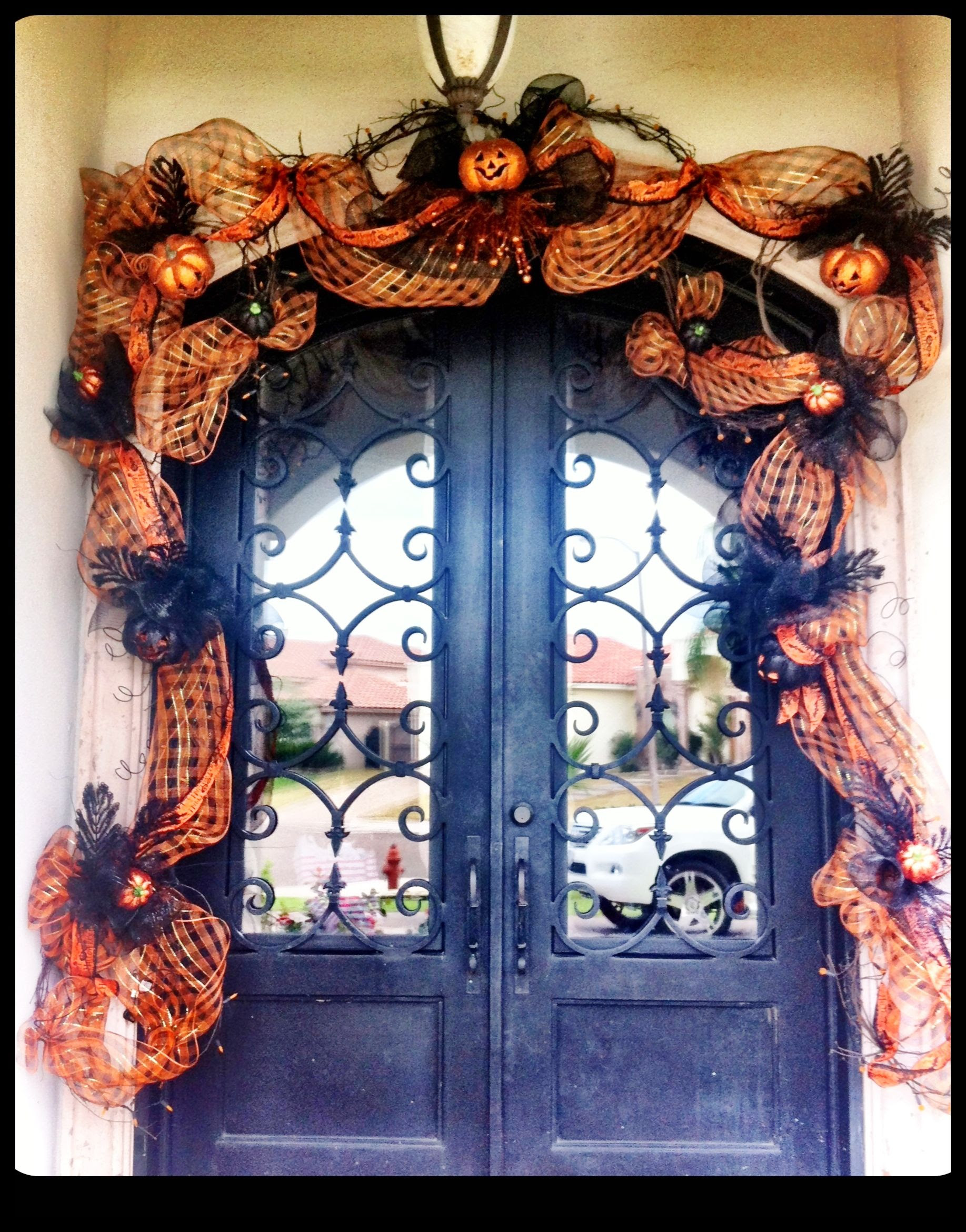 Decorating Your Front Door For Halloween Doors By Design