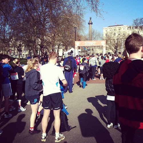 Sport Relief before the Start in the Mall