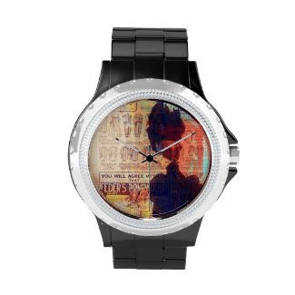 She Remembers Vintage Woman Fashion Art Watch