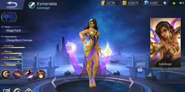 Esmeralda - Hero Tank Mobile Legends That Can Destroy and Steal Opposite Shields