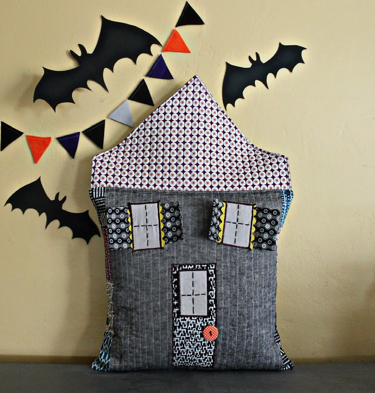 Halloween House Pillow