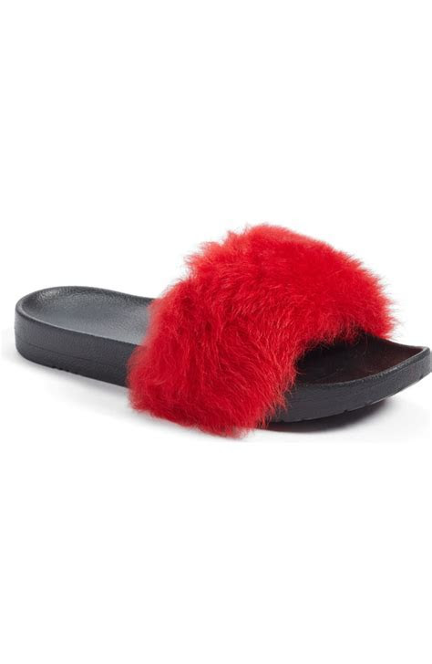 UGG® Royale Genuine Shearling Slide Sandal (Women)   Nordstrom