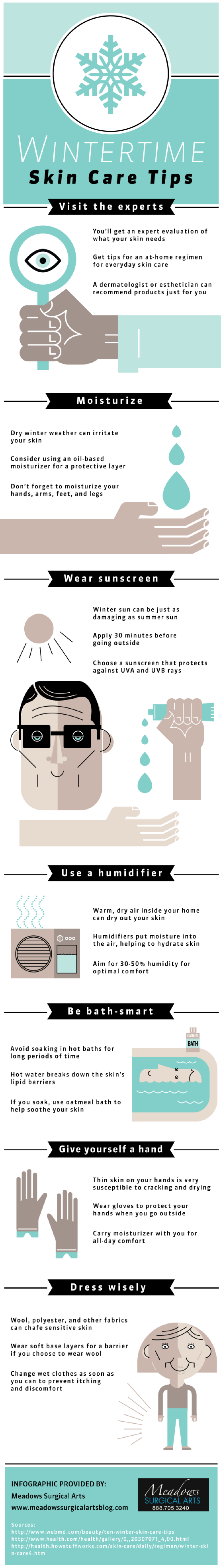Infographic: Wintertime Skin Care Tips