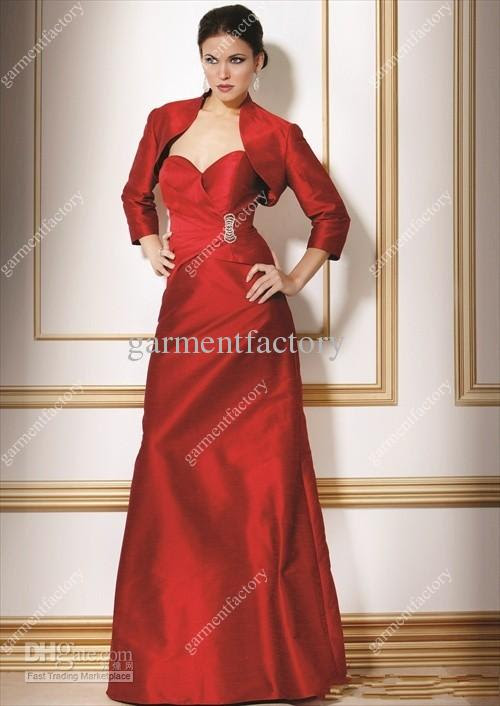 Long evening gown with jacket