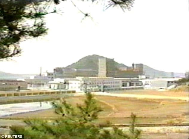 The doctor, who the North Koreans knew would feed back to his bosses in America, held plutonium extracted at a secret complex in Yongbyon (pictured)