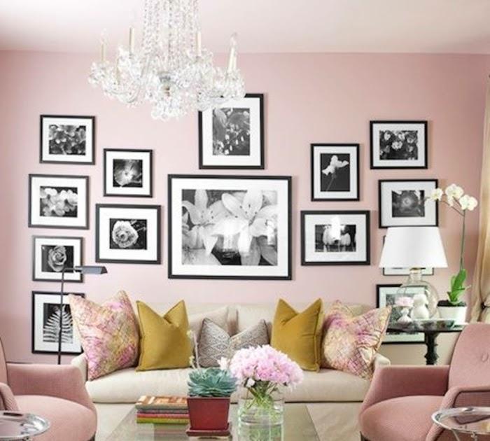 Grau Bild: Altrosa Wohnzimmer Deko Grau Rosa