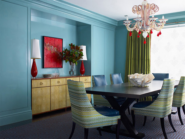 turquoise-blue-red-and-green-modern-colorful-dining-room