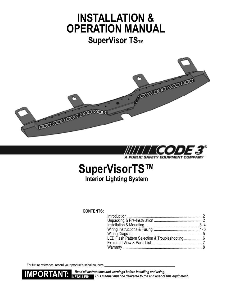 Wiring Diagram Database  Code 3 Excalibur Lightbar Wiring