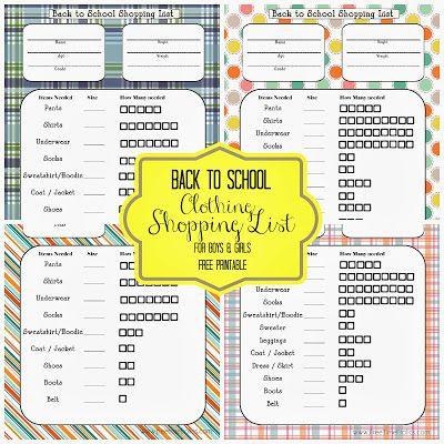 Back to School Shopping List {Free Printable}