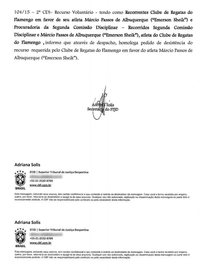 Documento FFERJ 2 (Foto: infoesporte)