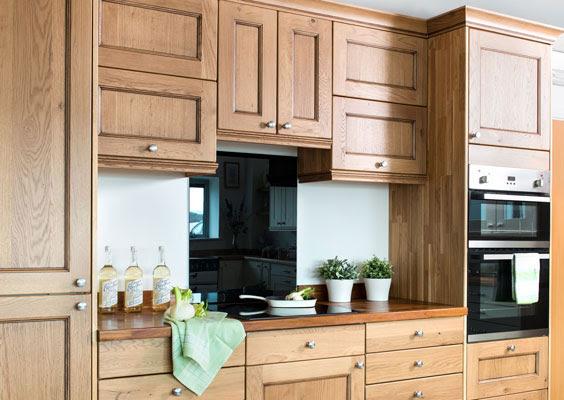 Tall Kitchen Larder Units & Storage Cabinets - Solid Wood ...