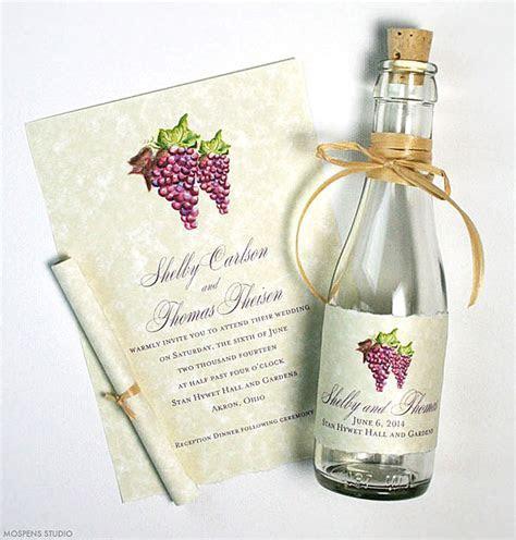 Winery Invitations   Mospens Studio