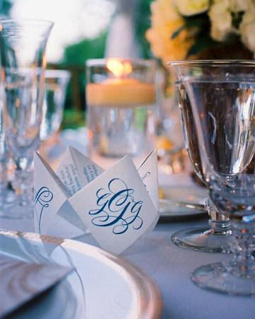 Monogramming Ideas from MarthaWeddings - Paperblog