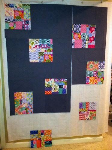 Terrain quilt back progress