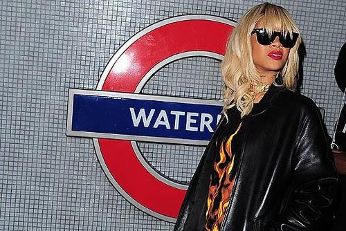 Rihanna at Waterloo Tube