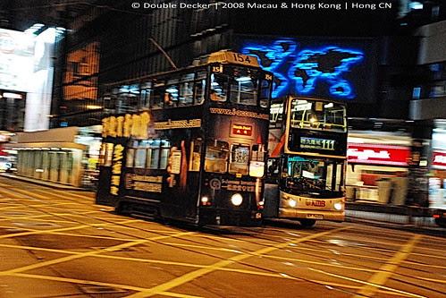 Night Double Decker Tram