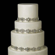 Ivory White Silver Clear Emerald Cut Rhinestone Wedding