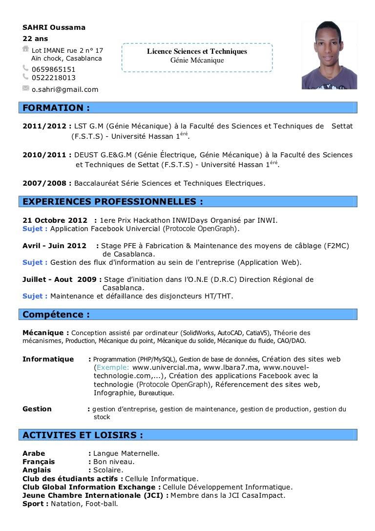 Cv Pour Footballeur