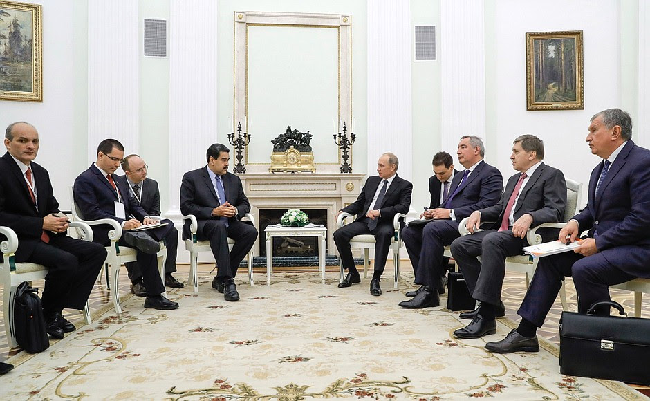 Meeting with President ofVenezuela Nicolas Maduro.