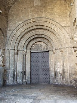 Jaca - Catedral - Portada Pies